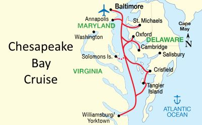 Chesapeake Bay cruise map
